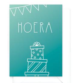"Verjaardagskaart gradient ""Hoera"""