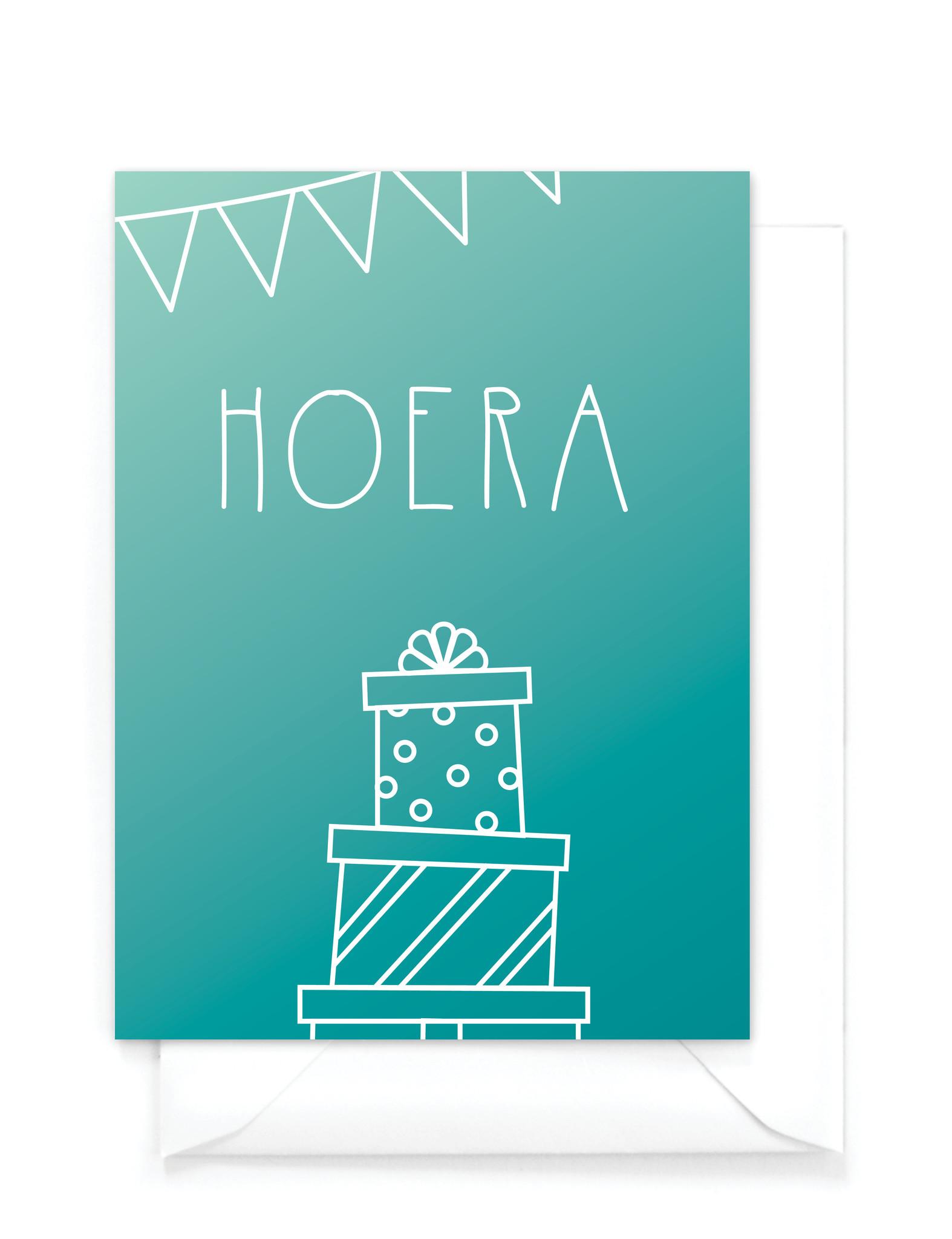 Verjaardagskaart - Gradient - Verjaardagskaart jongen
