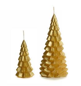 Gouden kerstboomkaars