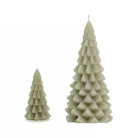 Groene kerstboomkaars
