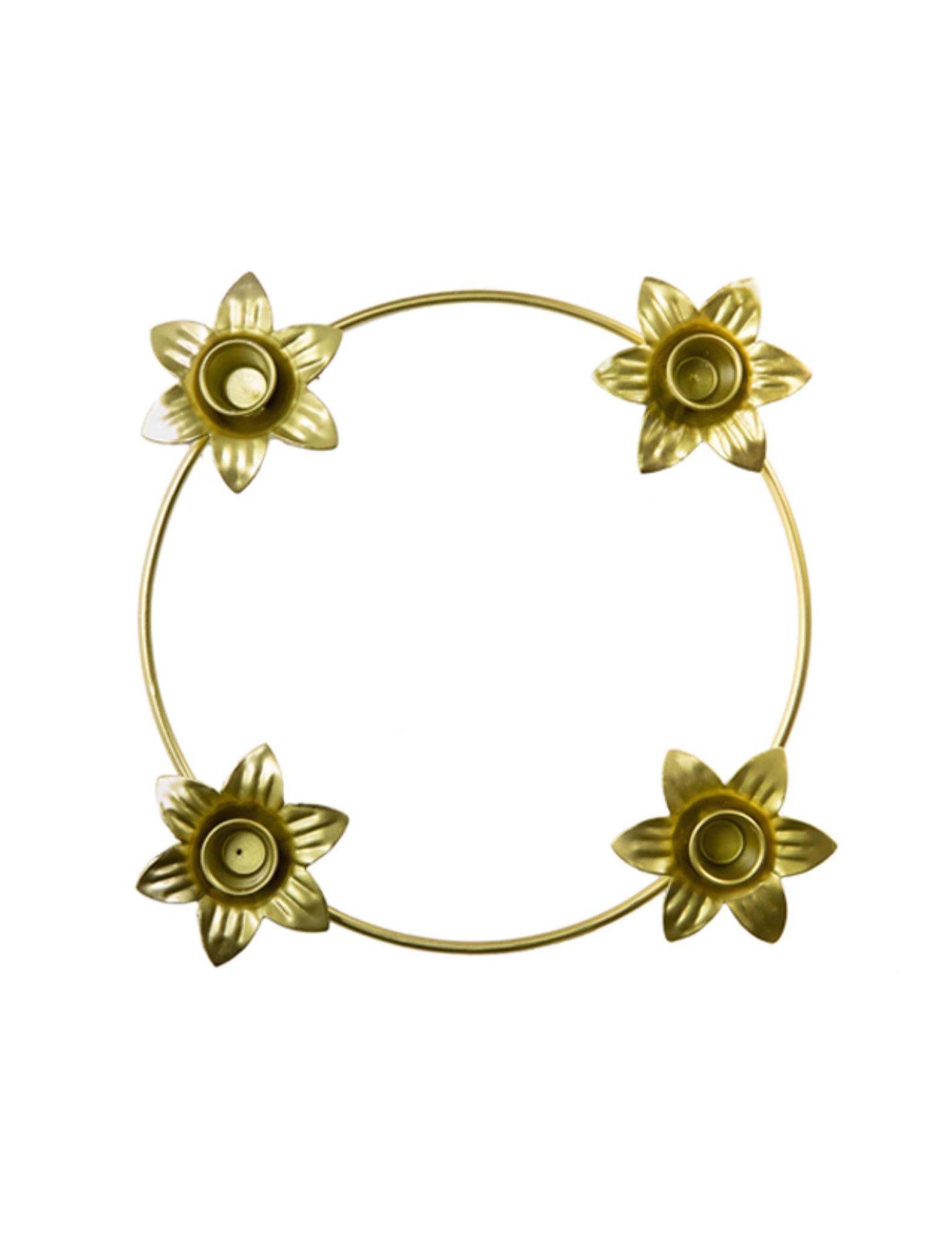 Prachtige gouden kandelaar 'Alice' van Rustik Lys