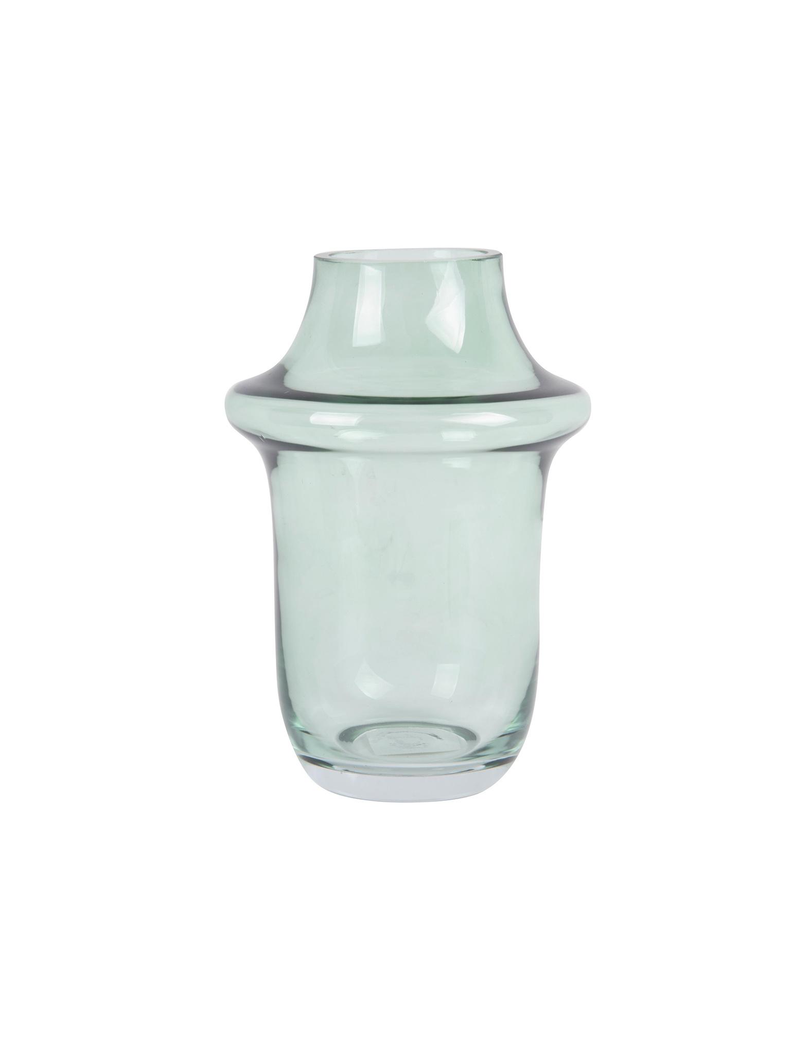 Groene glazen vaas van Present Time