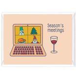 """Wenskaart Kerst """"Season's meetings"""""""