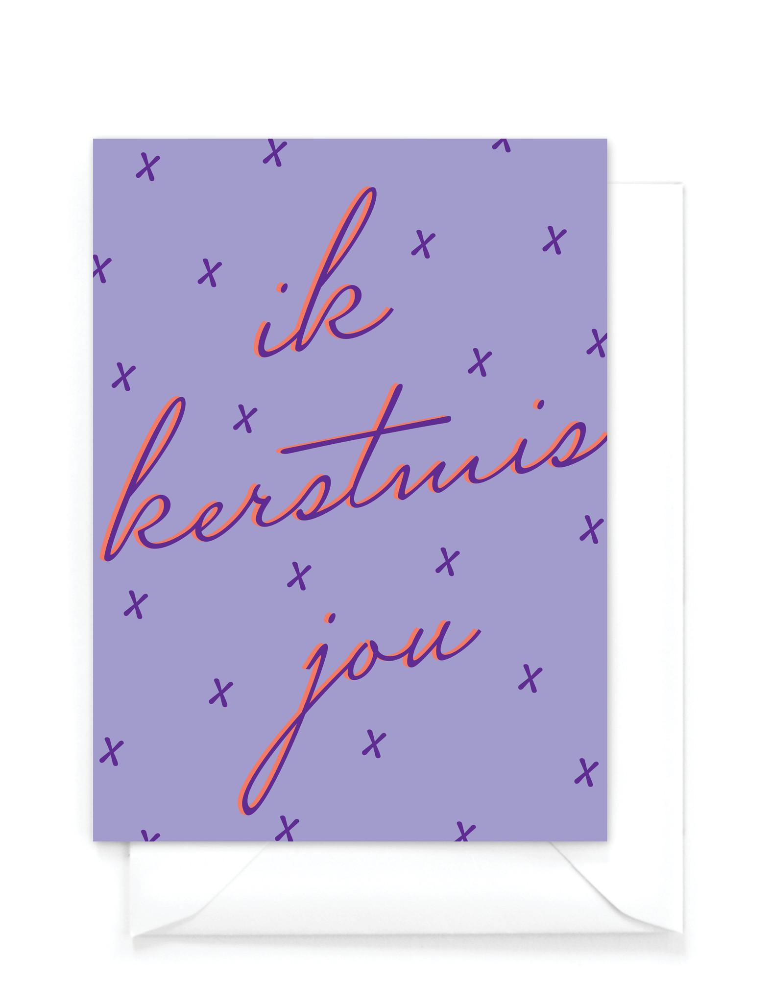 """Wenskaart Kerst """"Ik kerstmis jou"""""""