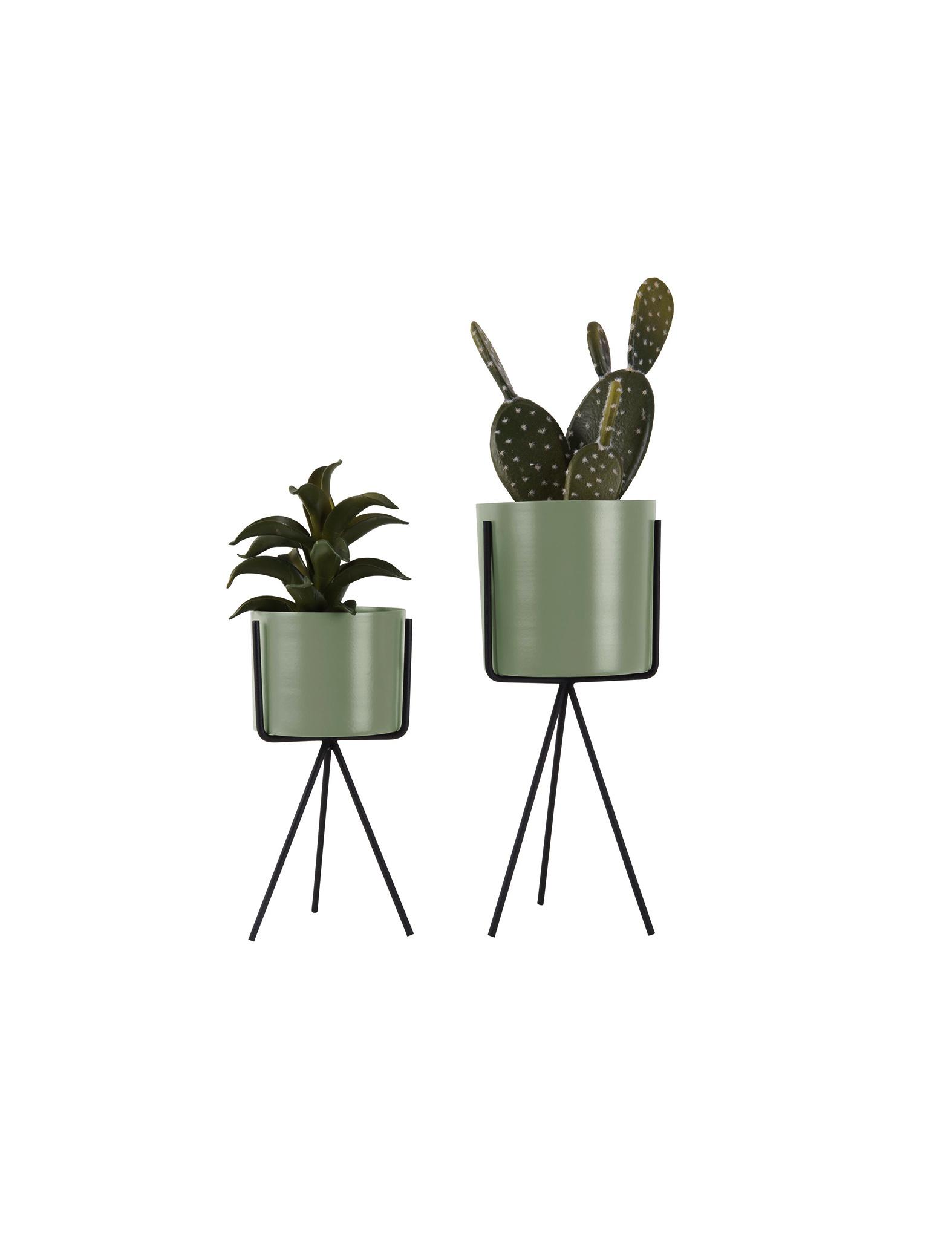Set van 2 groene plantenstaanders - Present Time