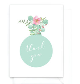 "Wenskaart botanical ""Thank you"""