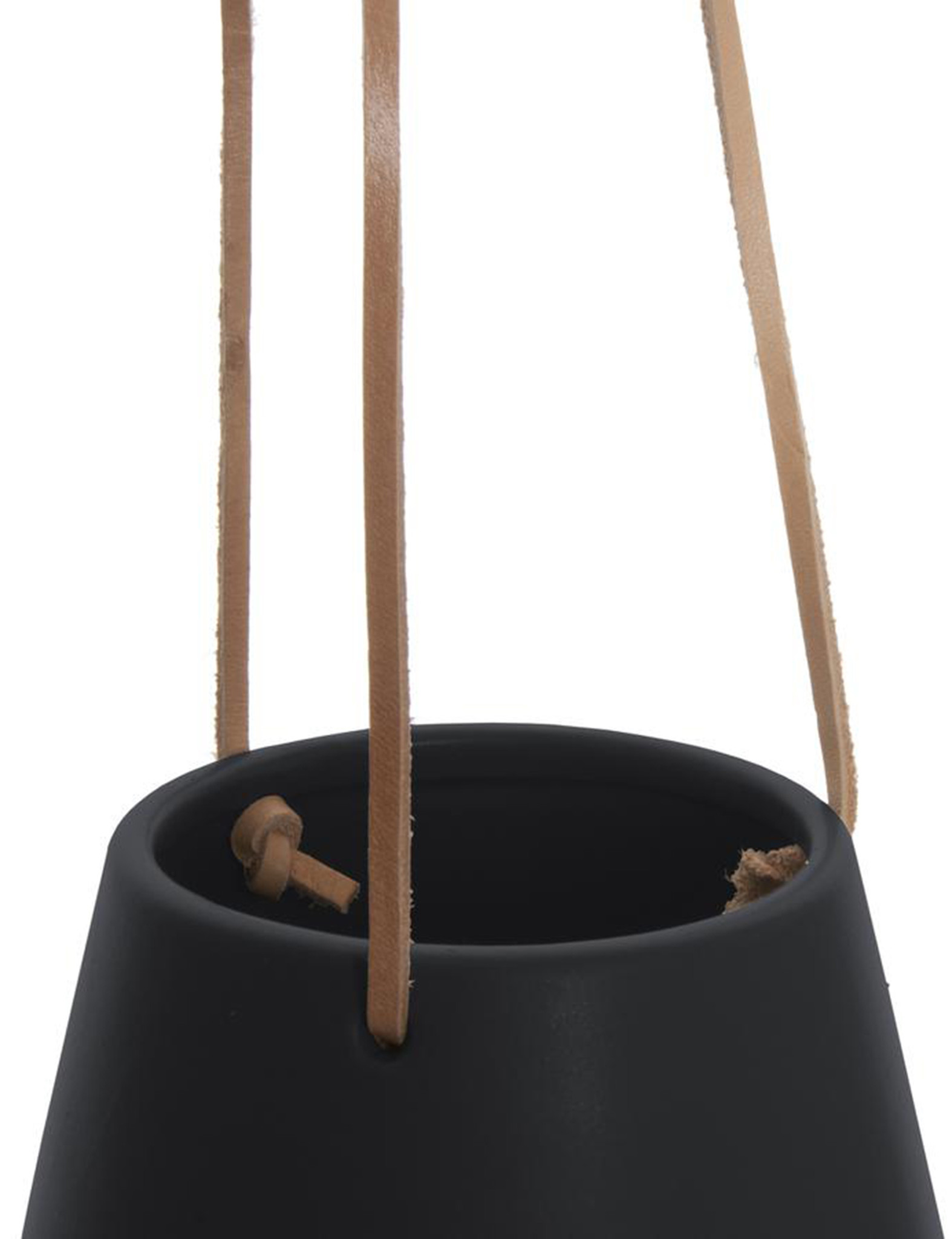 """Hangpot """"Skittle"""" in het zwart"""