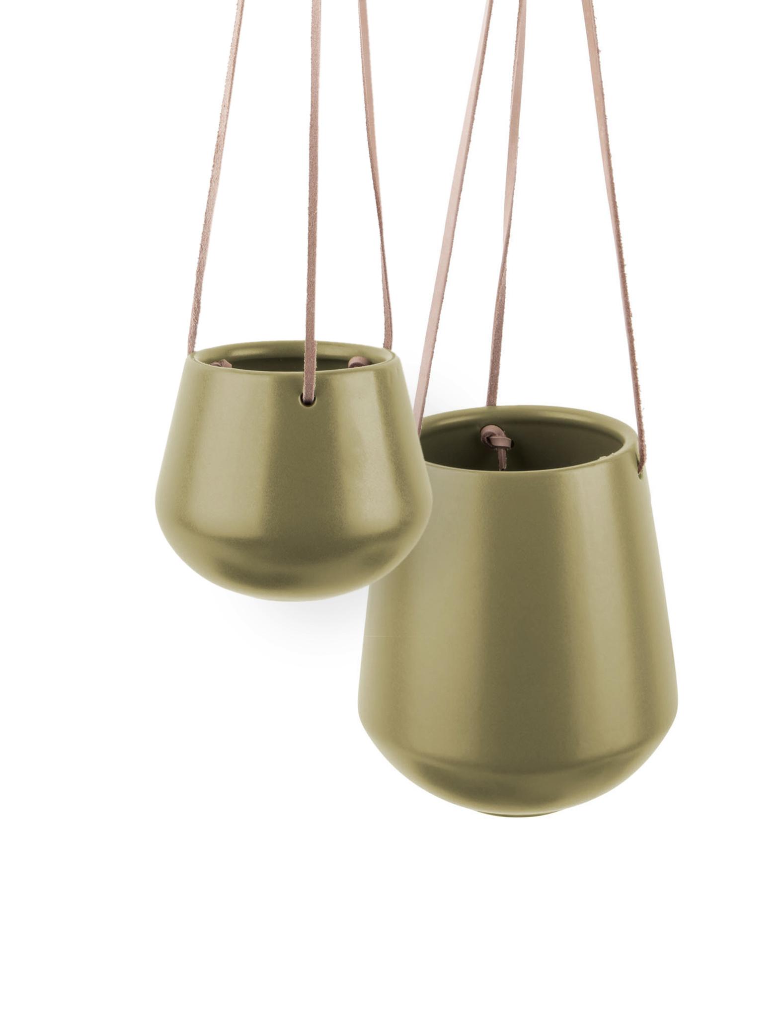 """Hangpot """"Skittle"""" in het olijfgroen"""