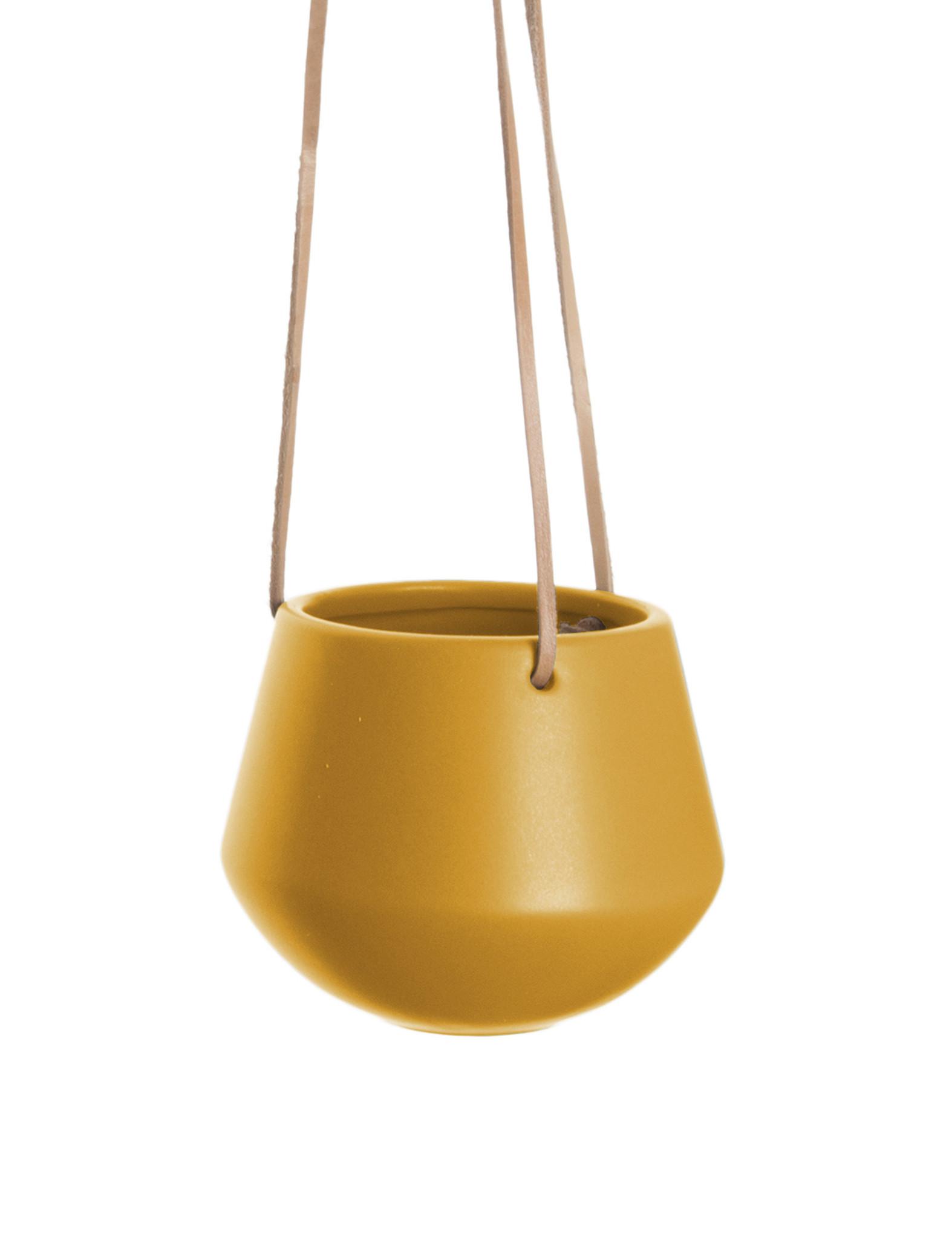 "Hangpot ""Skittle"" in het oker"