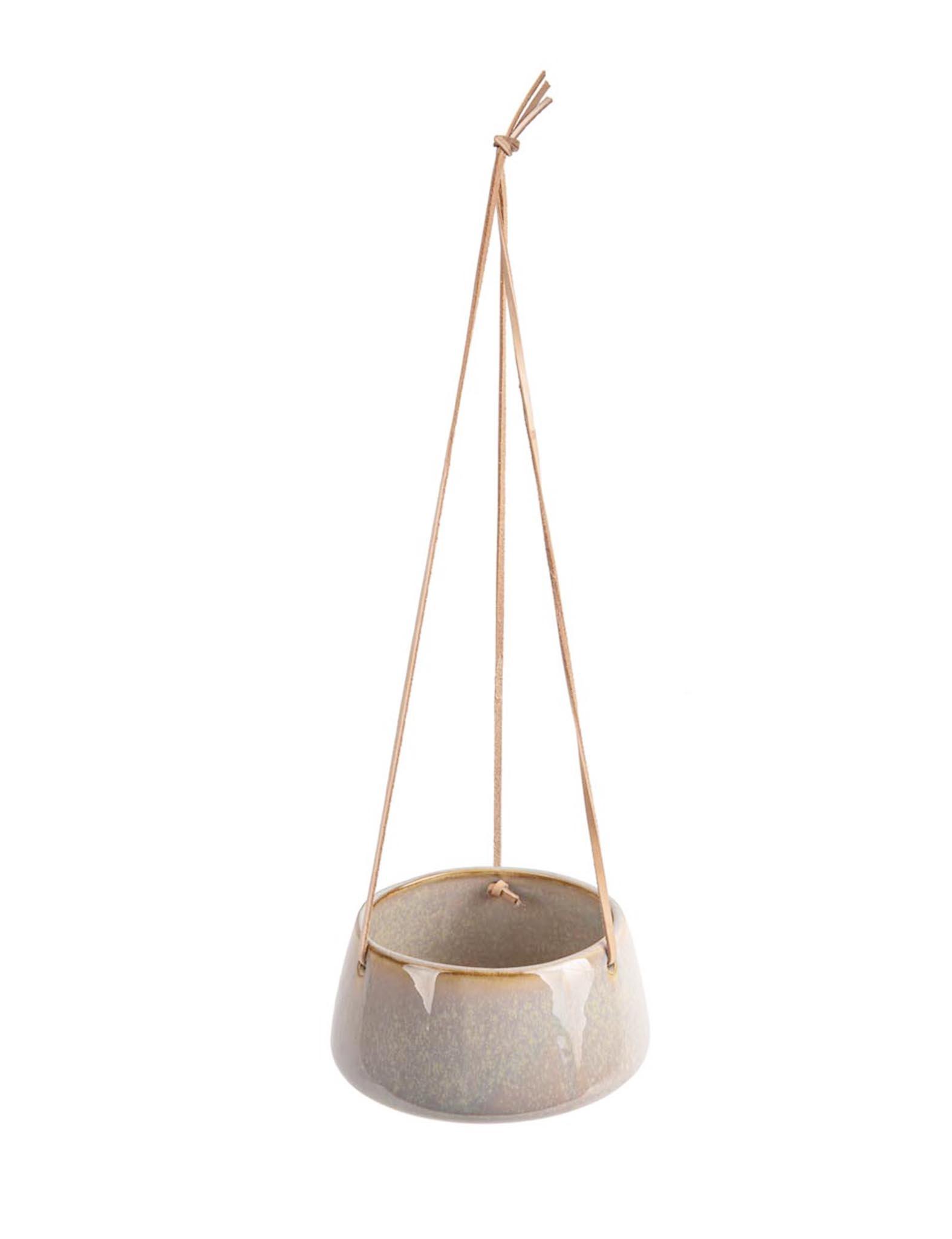 """Hangpot """"Unique"""" in het grijs"""