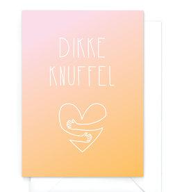 """Wenskaart gradient """"Dikke knuffel"""""""