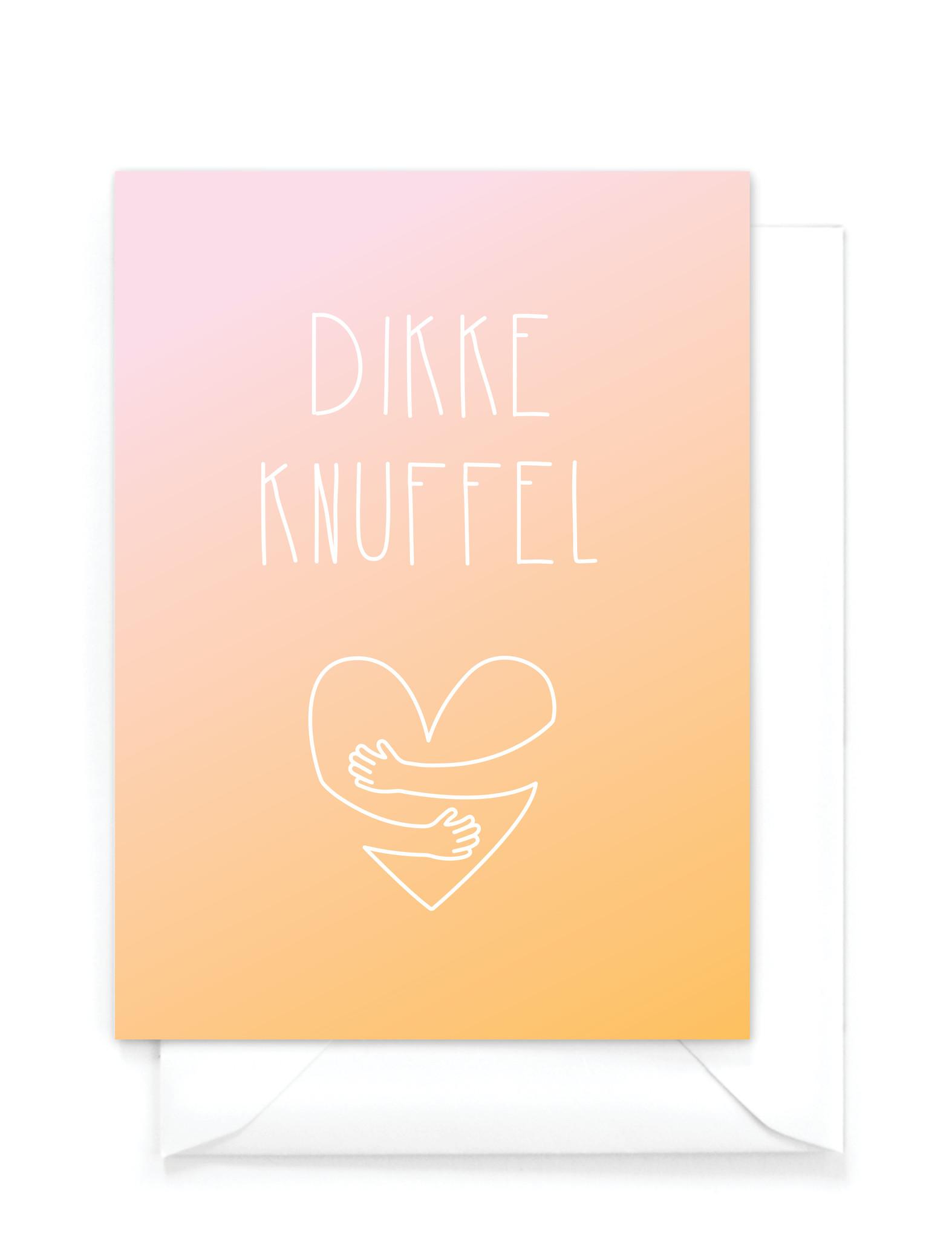 """Wenskaart gradient - """"Dikke knuffel"""""""