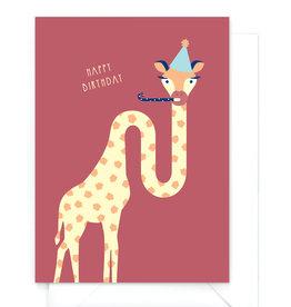 "Wenskaart dieren ""Happy Birthday"""