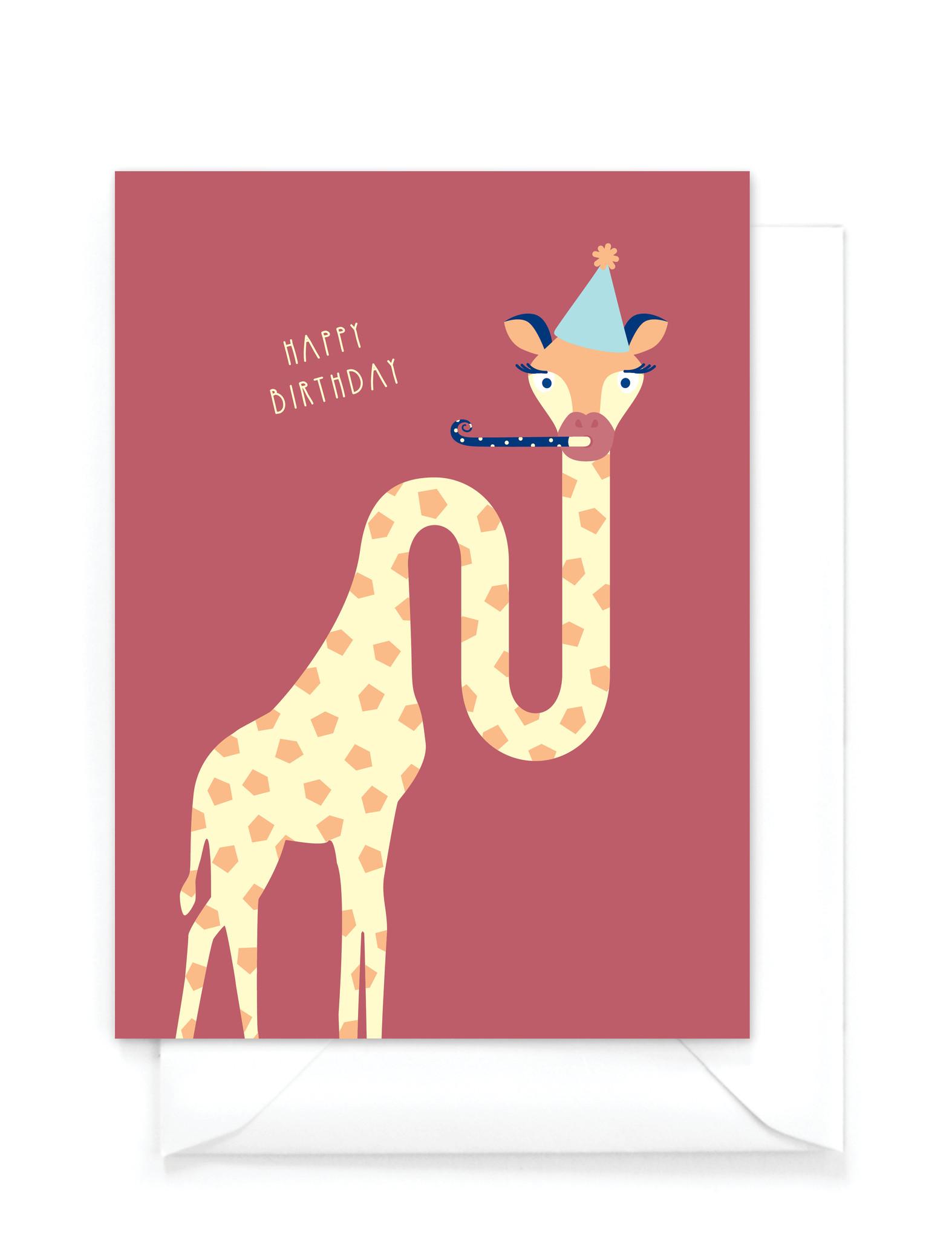 "Wenskaart dieren - ""Happy Birthday"""