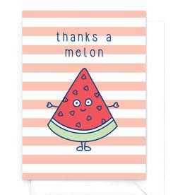 "Wenskaart Food ""Thanks a melon"""
