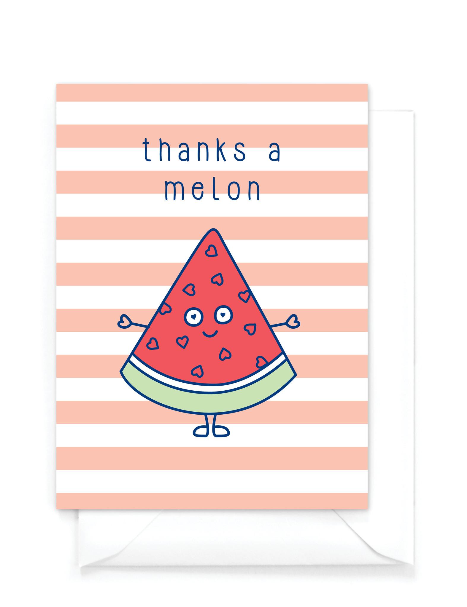 "Wenskaart Food -  ""Thanks a melon"""