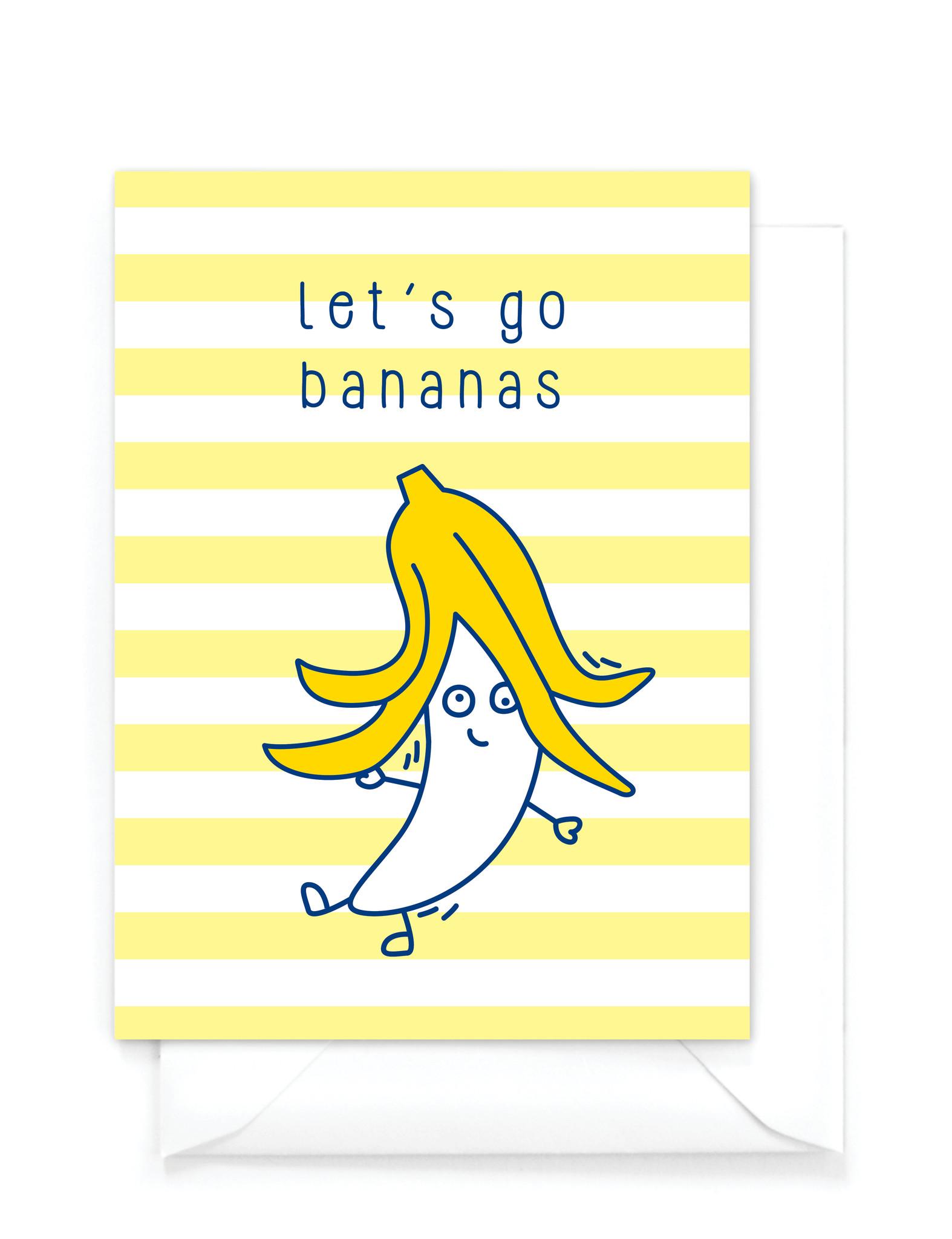 """Wenskaart Food -  """"Let's go bananas"""""""