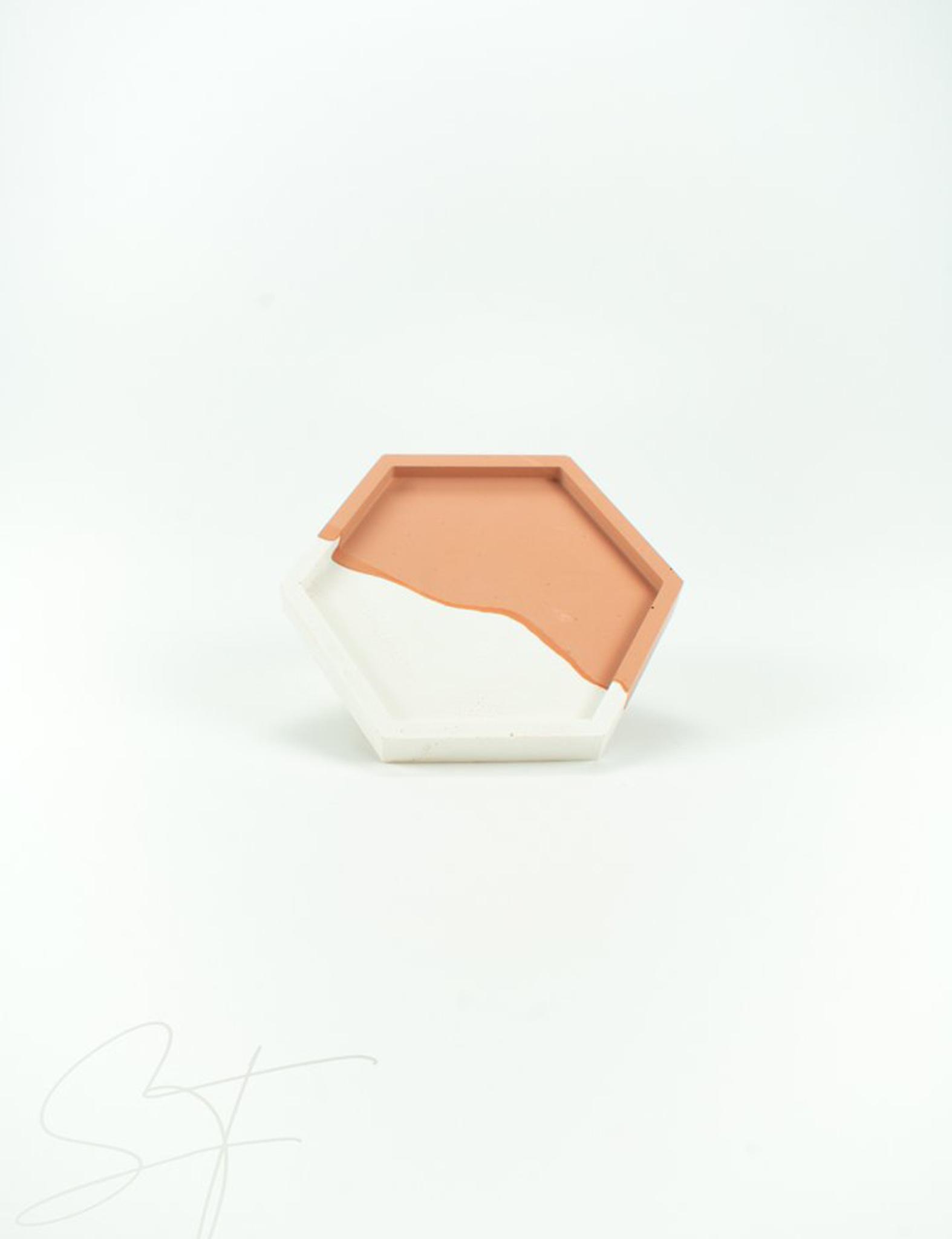 Hexagon Cairo - roestbruin - Studio SixtyFour