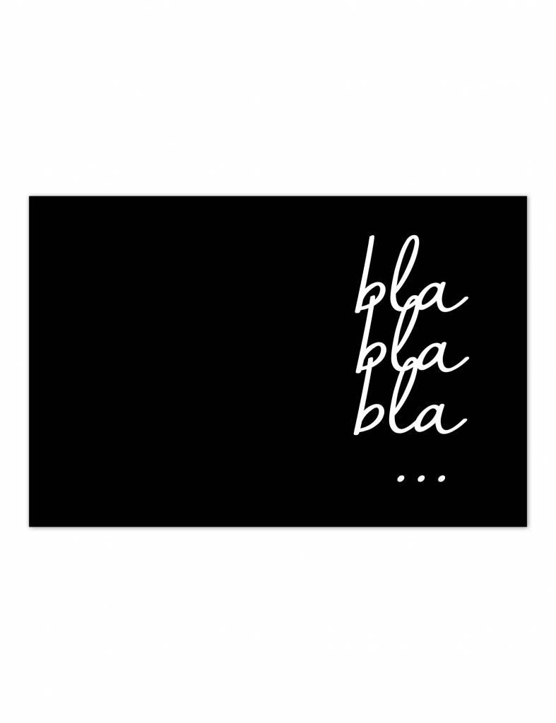 Poster - Bla bla bla - 30 x 20 cm