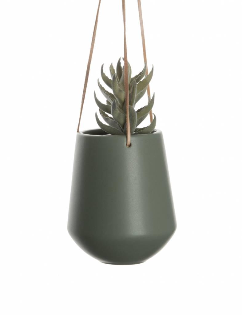 """Hangpot """"Skittle"""" groot in wit, groen en zwart"""