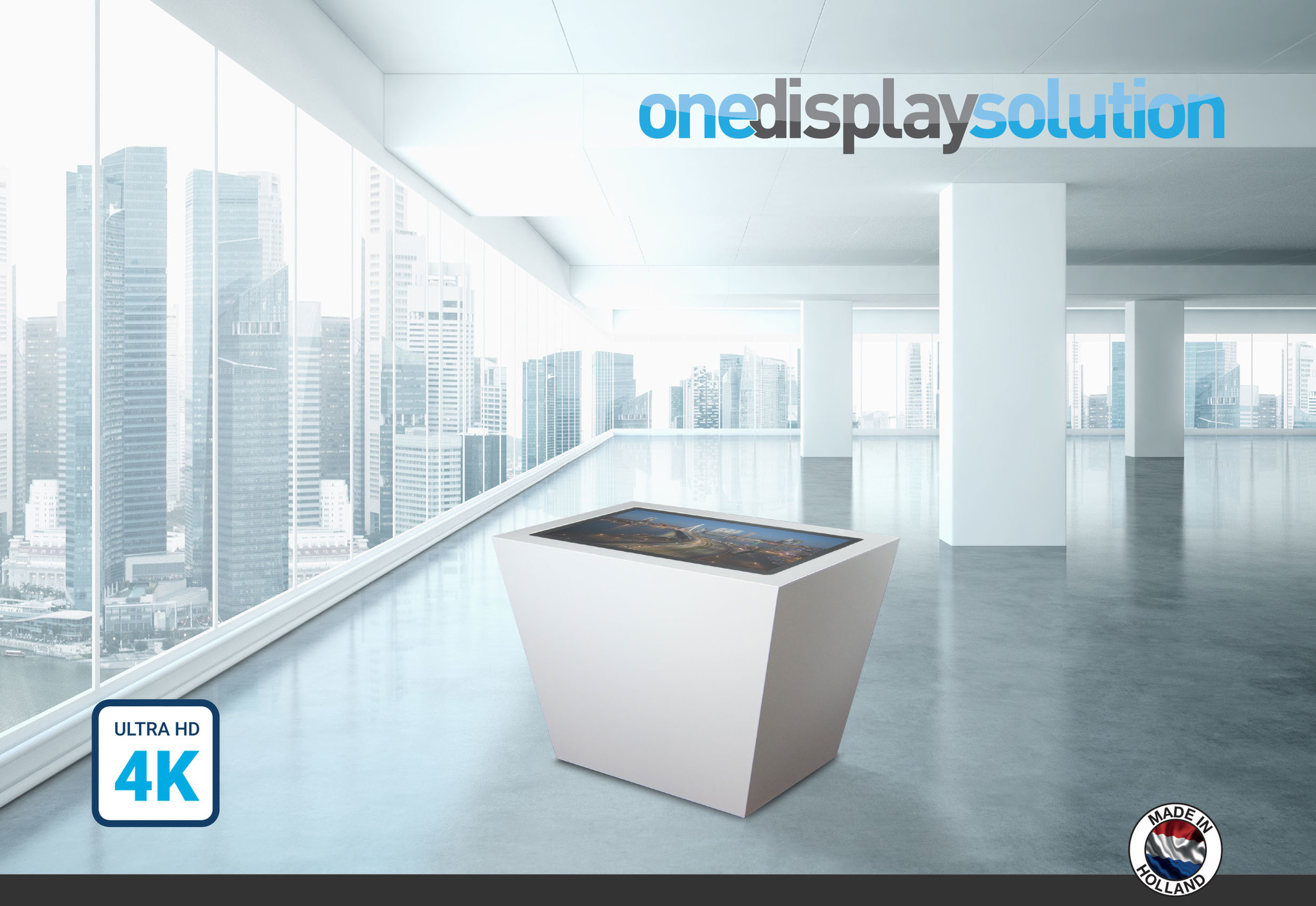 One Display Solution ODS Public Area Touch Tafel 65 inch 4K