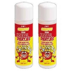 Kriebeldiertjes 2 en 1 shampooing poux Duopack