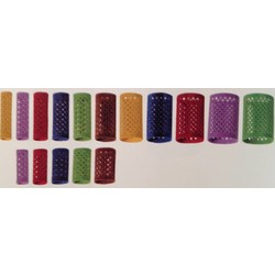 Sibel Fluwelen Rollers 12 Stuks - 65mm Lang - 40mm - Rood