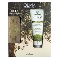 Olivia Hand Cream 75ml & Glycerine Exfoliating Soap 125 gr