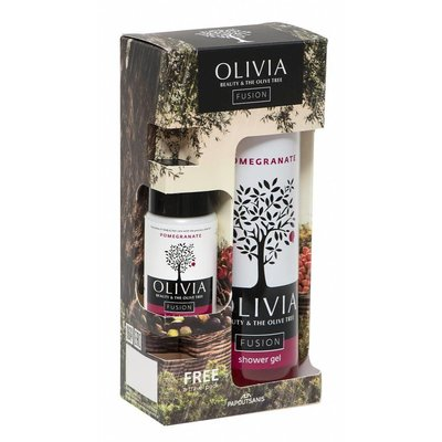 Olivia Fusion Gift Set Shower Gel 300ml & Body Lotion Pomegranate 50ml