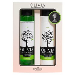 Olivia Fusion Gift Set Shower Gel 300ml & Body Lotion Fig 300 ml