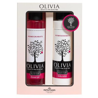 Olivia Fusion Gift Set Shower Gel 300ml & Body Lotion Pomegranate 300 ml