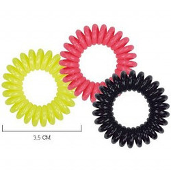 Spiradelic Hair elastics Black Pink Yellow