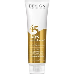 Revlon Shampoo e balsamo per capelli da 45 giorni 2 in 1 Biondo dorato
