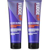 Fudge Clean Blonde Violet Toning Shampoo Duopack 2 x 250ml