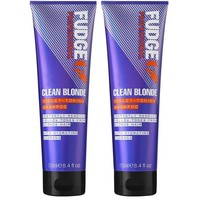 Fudge Clean Blonde Violet Toning Shampoo Duopack