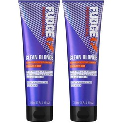 Fudge Clean Blonde Violet Toning Shampoo Duopack