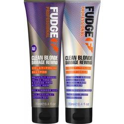 Fudge Clean Blonde Damage Rewind Toning-Violet duo shampoo & conditioner 250ml