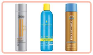 Shampoo with UV protection