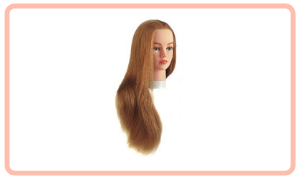 Oefenhoofd lang haar