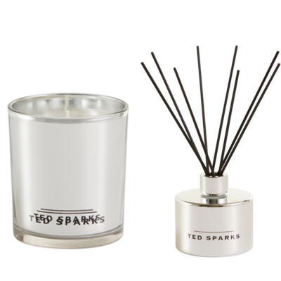 Ted Sparks Silver Amber & Pepper Diffuser and Geurkaars Combi Pack