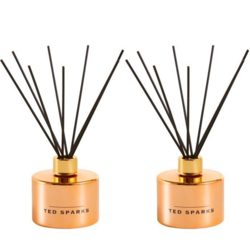 Ted Sparks Rose Gold Cedarwood and African Flower Diffuser 2 Stuks