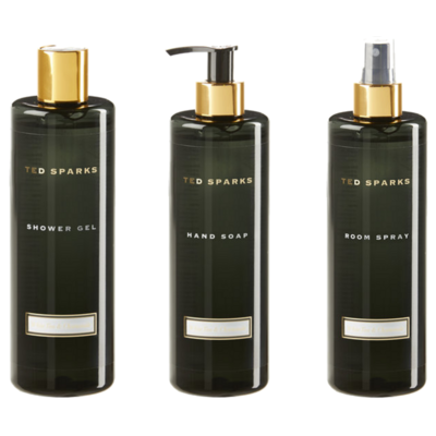 Ted Sparks Bamboo and Peony Complete Set - Roomspray, Handsoap & Showergel