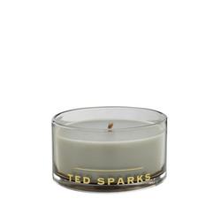 Ted Sparks Kerze Magnum Beige im Freien