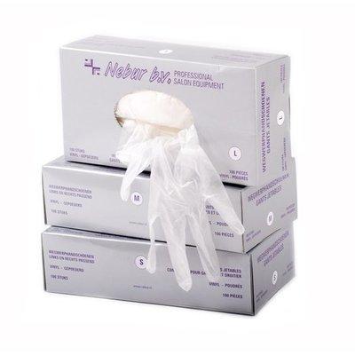 Nebur Vinyl Disposable Gloves Powdered LARGE