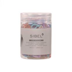 Sibel Sangles élastiques pour cheveux 500 pcs