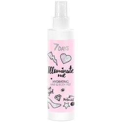 7Days Illuminate Me Rose Girl Hydrating Mist for Hair & Body 150ml