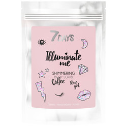 7Days Illuminate Me Rose Girl Shimmering Coffee Body Scrub 200gr