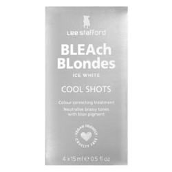 Lee Stafford Bleach Blondes Ice White Cool Shots 4 x 15ml
