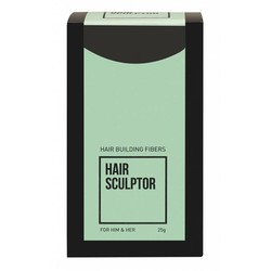 Hair Sculptor Hair Building Fibres Zwart 6 Stuks