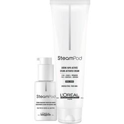 L'Oreal Steampod Smoothing Cream 150ml + Serum 50ml